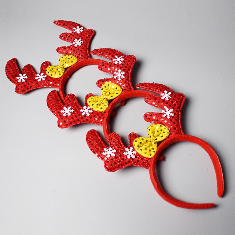 Christmas Headband decoration Santa Claus headband children adult antler headband toy Christmas gift