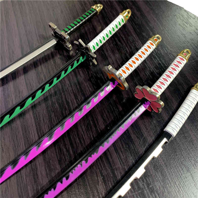 Demon Slayer Sword Keychain Action Figures Toys Ghost Blade Anime Kimetsu no Yaiba Nezuko Weapon Cosplay Figurine Toy