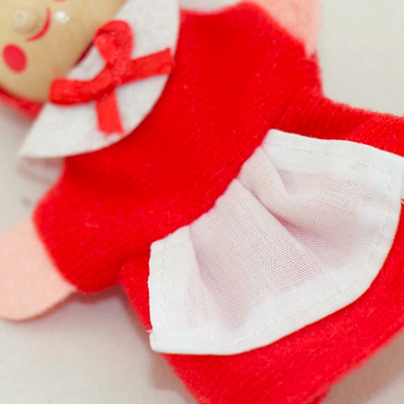 Kids Finger Puppets Doll Plush Toys Cute Little Red Riding Hood Wooden Headed Fairy Tale Story Telling Hand Puppets