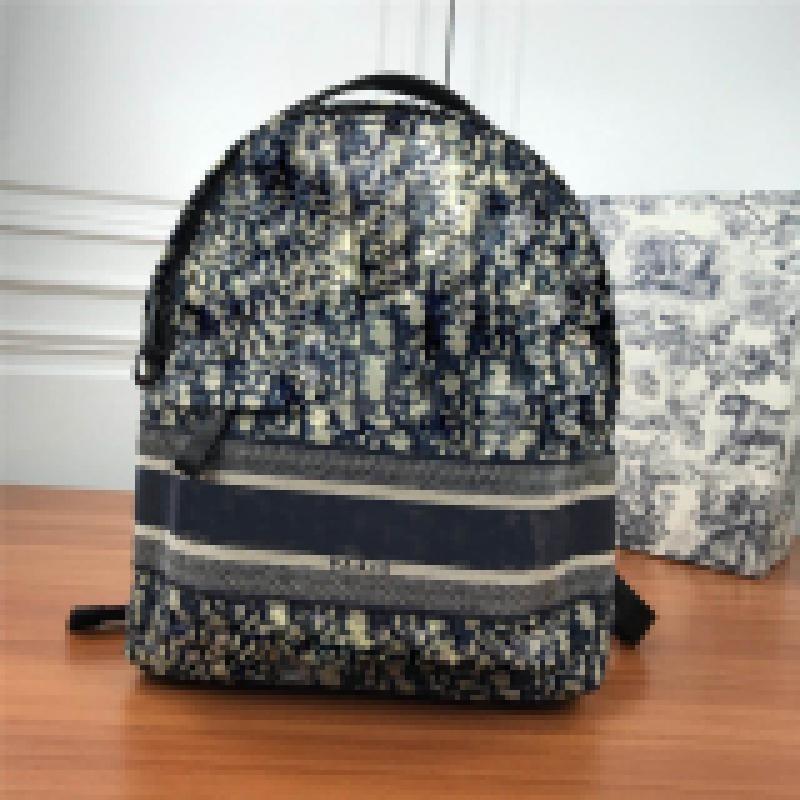 Designer Luxury Trotter oblique technical jacquard backpack Marc Bohan Safari Zip Backpack Oblique Canvas Size:30x15x42CM