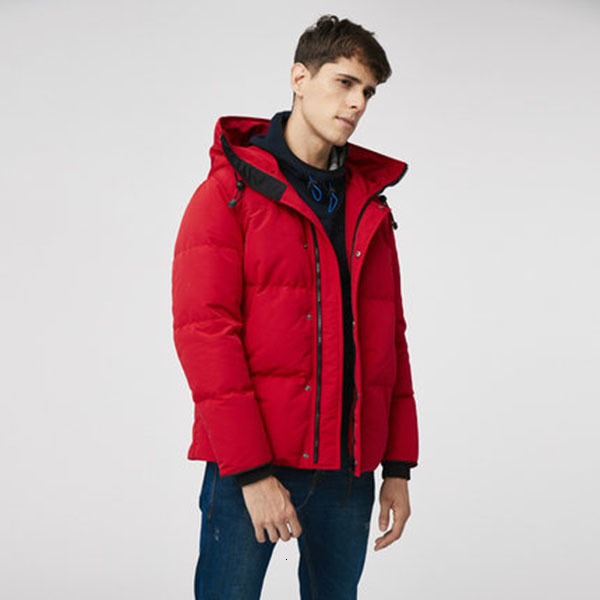 Mens Winter Down Jacket Puffer Jackets Hooded Thick Coat Men High Quality duck down feather puffer Winter Coat