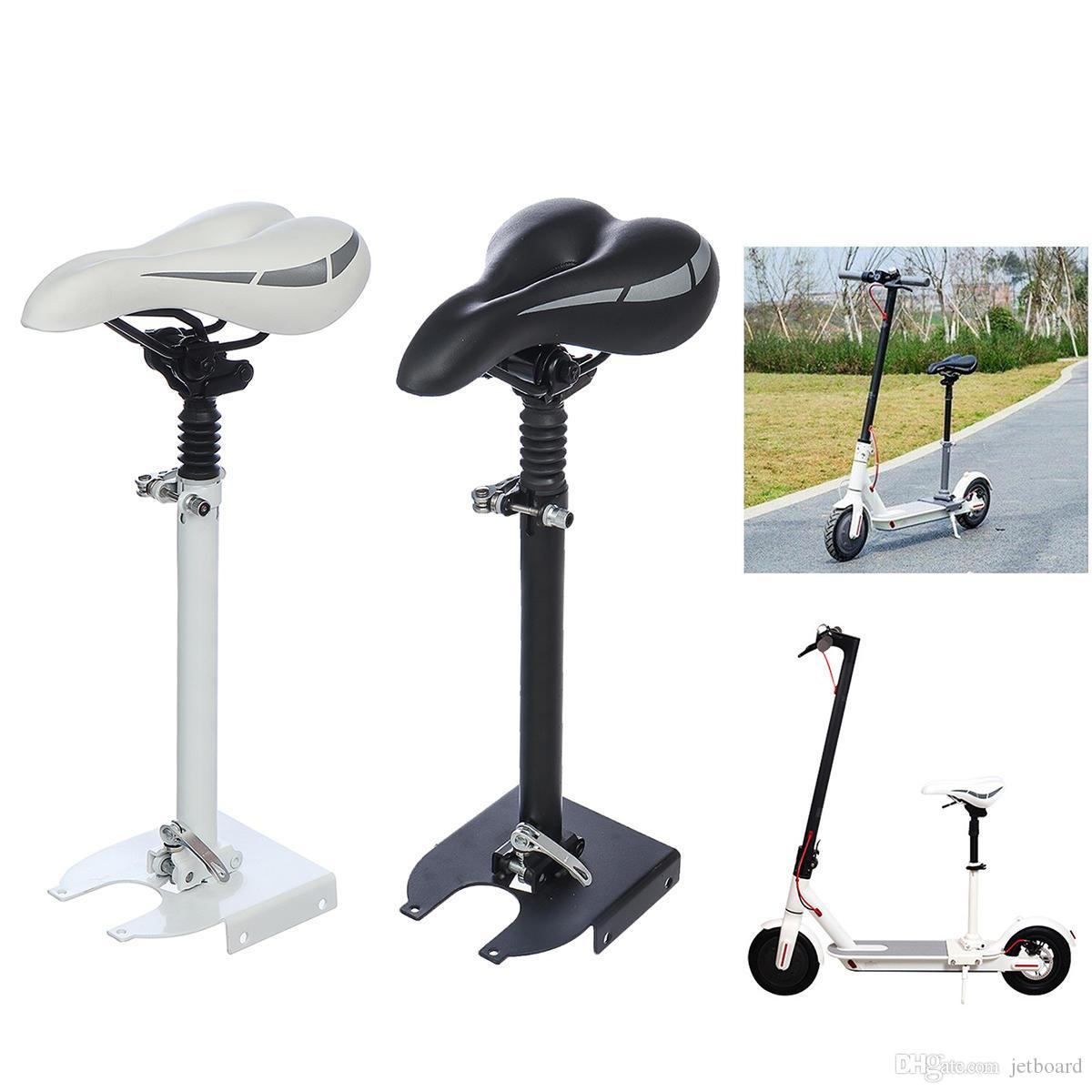 Adjustable Height Foldable Seat Saddle For Mijia M365 Electric Scooter - White