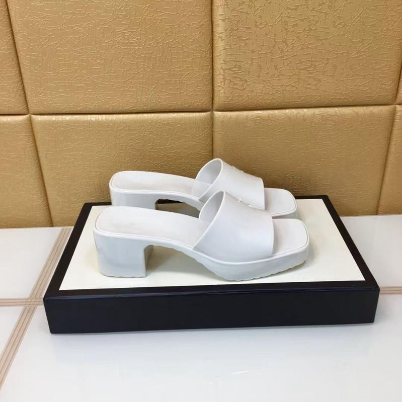 women's sandals fashion beach platform slippersletters ladies sandals leather high heels