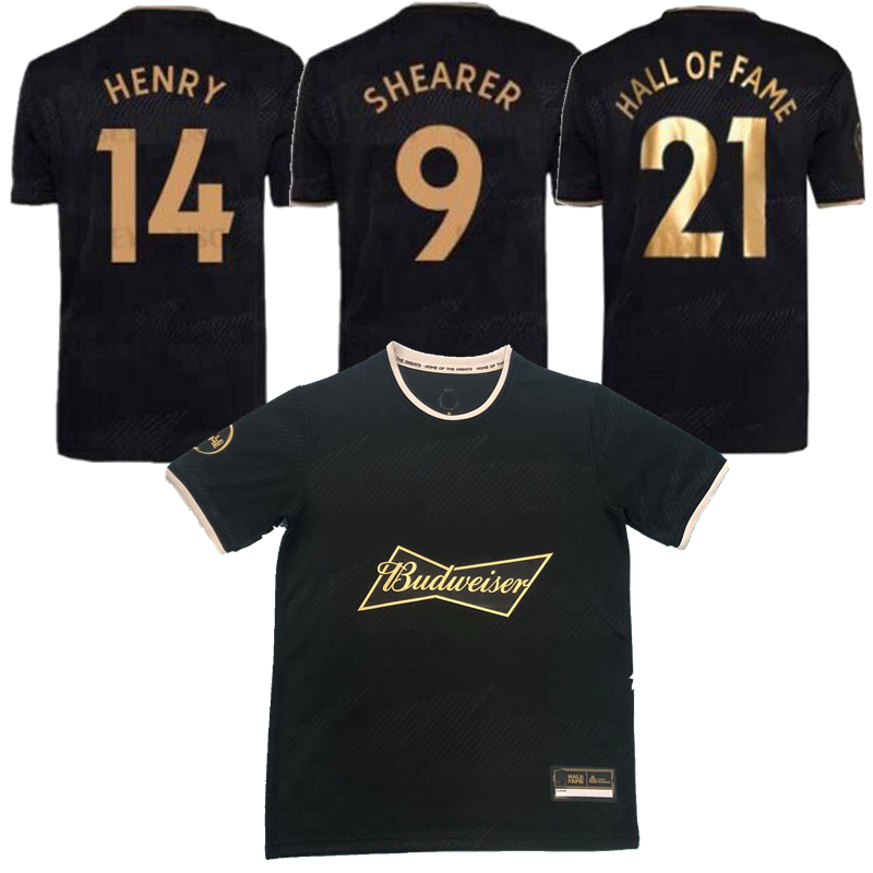 2021 2022 English HALL OF FAME Soccer Jerseys 21 22 HENRY SHEARER MEN kit Special Framed Commemorative Edition Black Man Football Shirt