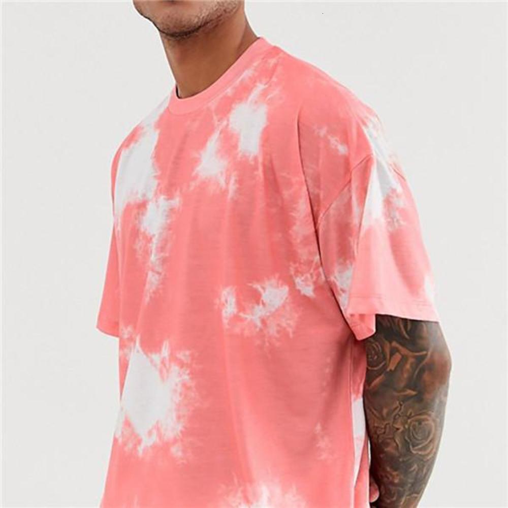 Style Mens Clothing Tie Dyed Men Designer Tracksuits Summer Short Sleeve O Neck Loose Sets Hiphop Street