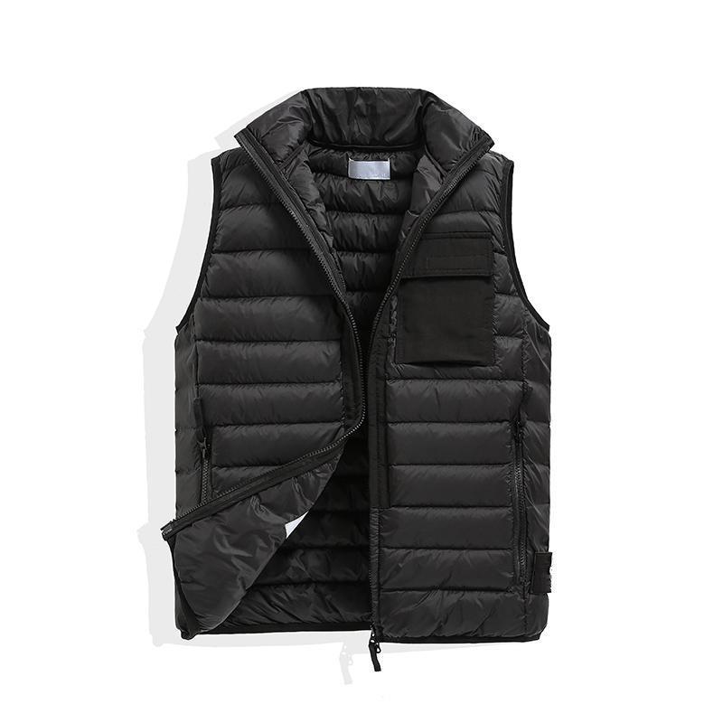 topstoney Men Mens and women`s No hat Sleeveless Jacket Cotton-Padded Autumn Winter Casual Coats Male Waistcoat bodywarmer down vest