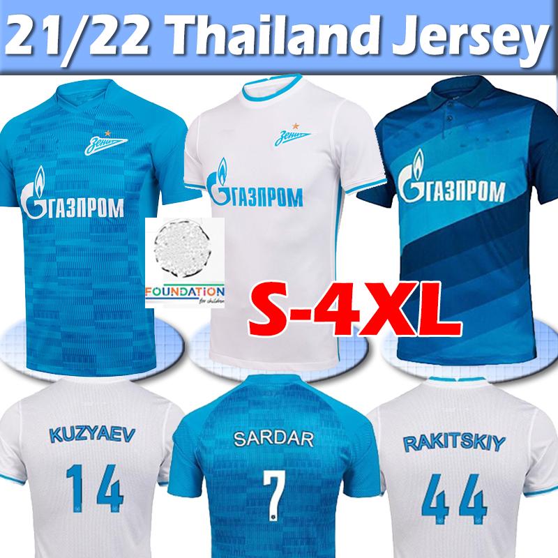 21/22 Zenit St. Petersburg soccer jersey home away blue Jerseys MALCOM Lovren 2021 2022 SANTOS BARRIOS Football Shirt maillots de foot thai 4XL