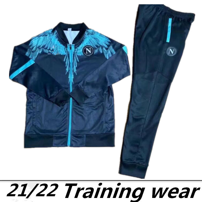 2021 Marcelo Burlon Napoli tracksuit Hamsik Insigne Callejon Zielinski 2022 SSC Naples long zipper jacket set tracksuit Soccer tracksuit