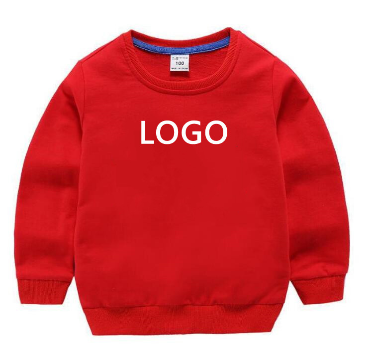 Children's Pullover Designer Boys Clothes Round Neck Long Sleeve Sweatshirt Girl Brand Clothing Classic Printed Cotton 2-8 Years