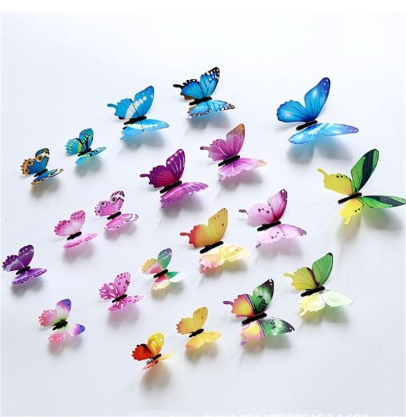 3D Butterfly Wall Stickers Home Decor Muti Colors Butterflies Walls Decors Colorful Poster Window Decoration Decal 0 9gs C2