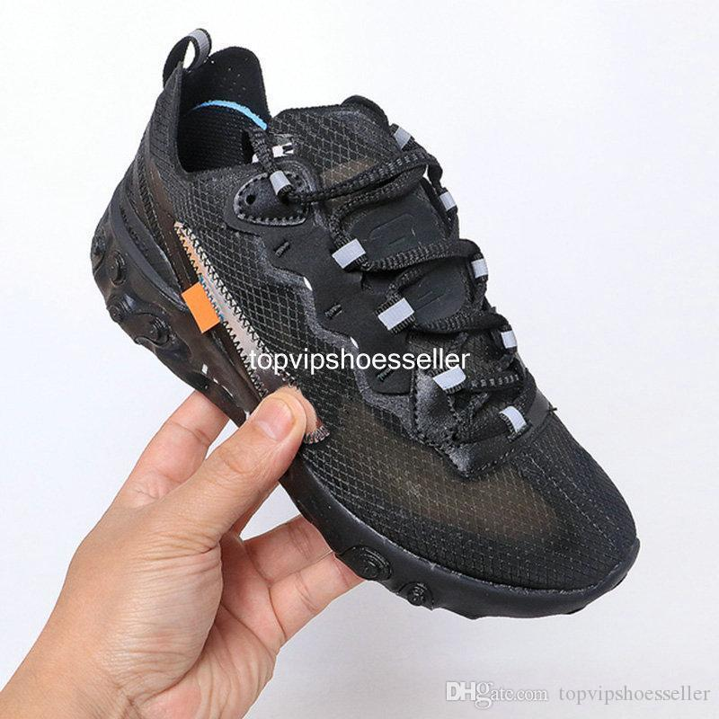New 2020 UNDERCOVER React Element 87 55 Pack White Sneakers Brand Men Women Trainer Men Women Running Shoes Zapatos Eur 36-45