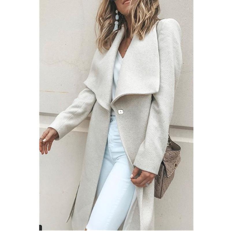 Long Sleeve Woolen Coat for Women in Autumn and Winter of 2021