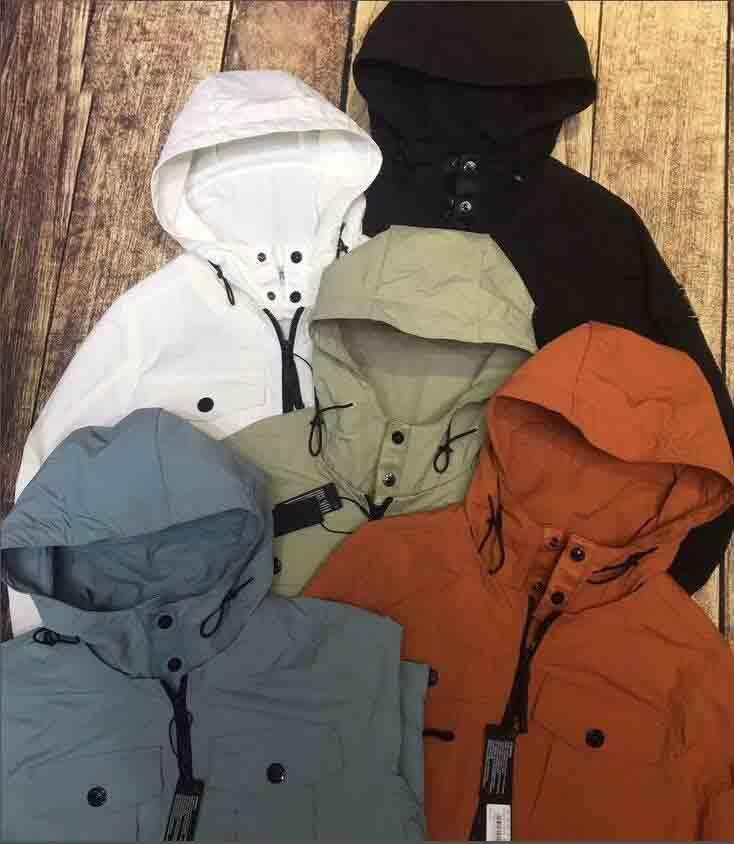 2020 new brand Compass embroidery men`s casual metal nylon jacket thin section hooded windbreaker jacket