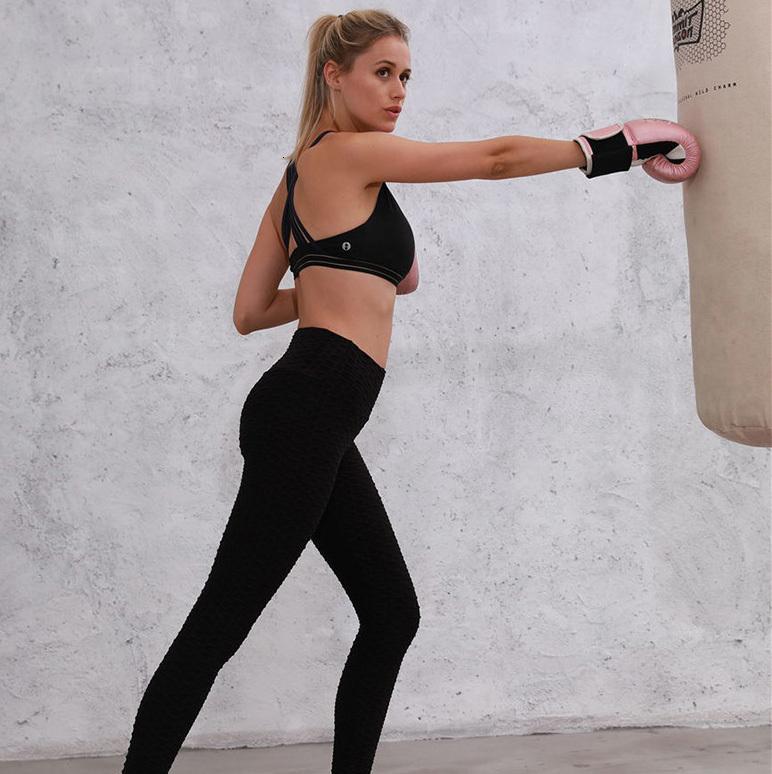 20ss new Womens sweatpants leggings Breathable jacquard yoga pants women fluorescent color sexy hip-lifting sports leggings women