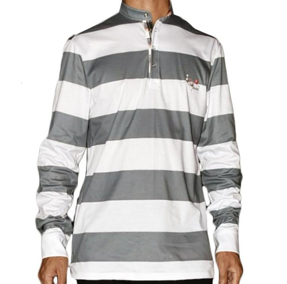 2020 new fashion casual spring and autumn men's striped round neck long sleeve men's t-shirt