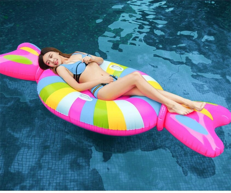 New Style Giant Candy Pool Floating Row Summer Outdoor Overwater Inflation Swim Ring Children Adult PVC Eco Friendly Water Toy 70xy Y