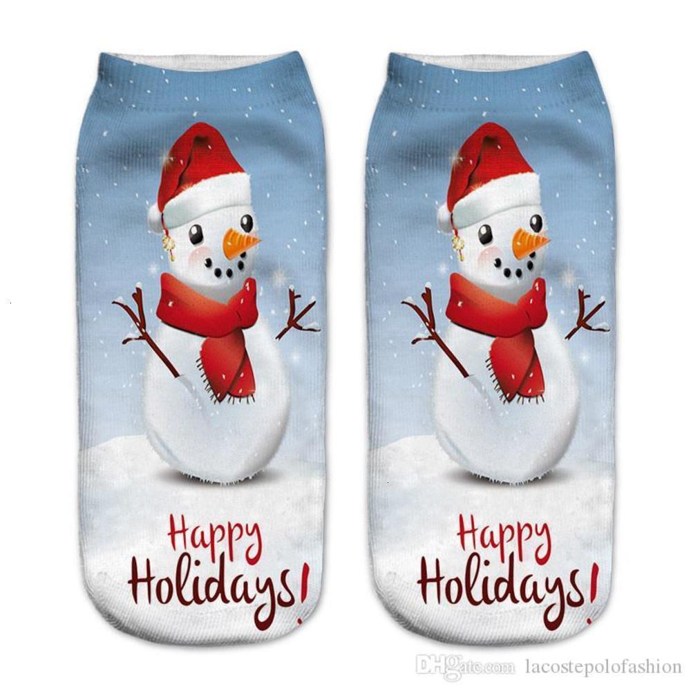 Womens Sock Fashion Santa Claus Milu Deer Print Sock Slippers Donna Casual Hosiery Merry Christmas Print