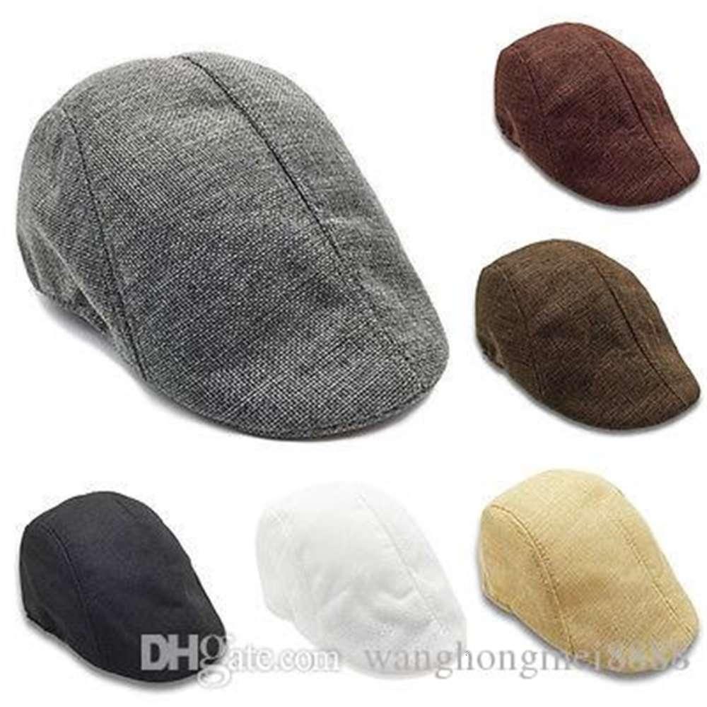Gatsby Newsboy Cap Men Women Casual Cotton Ivy Hat Golf Driving Flat Cabbie Flat Unisex Berets Hat