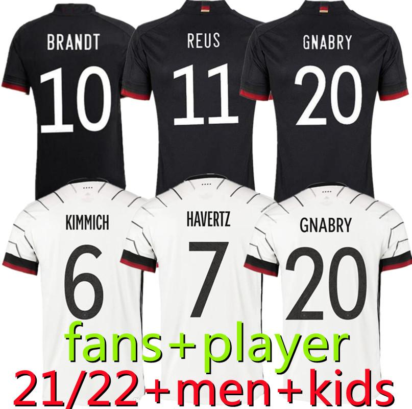 2021 2022 Germany soccer jersey 21 22 Fans Player version HUMMELS KROOS GNABRY WERNER DRAXLER REUS MULLER GOTZE European Cup football shirt uniforms men + kids kit