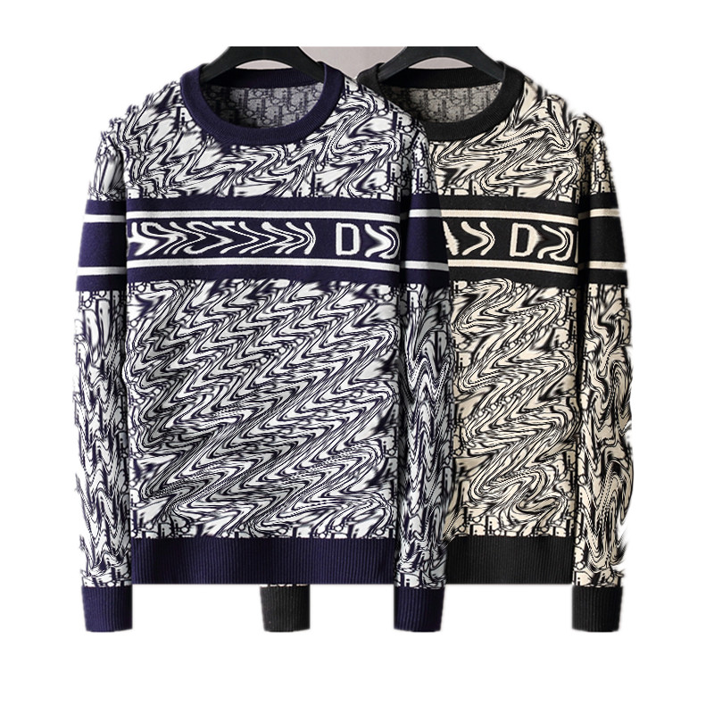 high quality Men's sweater letter embroidery knitted sweater winter sweatshirt round neck round neck long sleeve sweater female designer sizes M-3XL