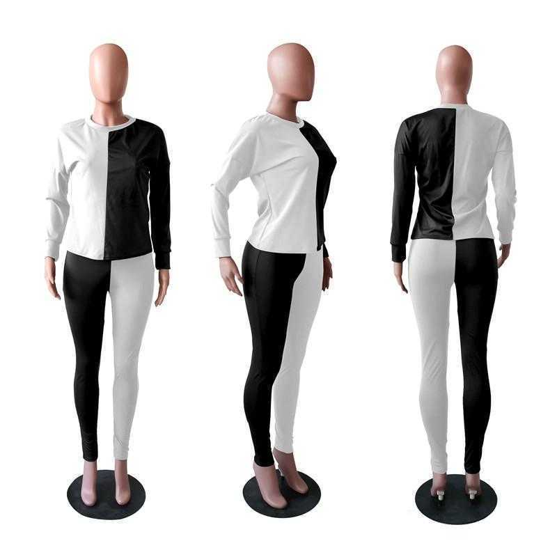 wholesale items long sleeve sportswear two piece set tracksuits outfits trousers sweatsuit pullover tights legging suits klw7378