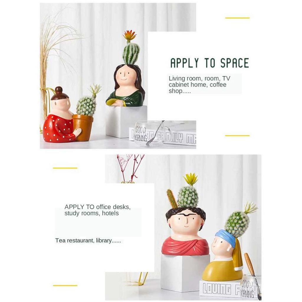 Cute Succulent Cactus Mini Flower Pot Desktop Window Decoration for Office Home
