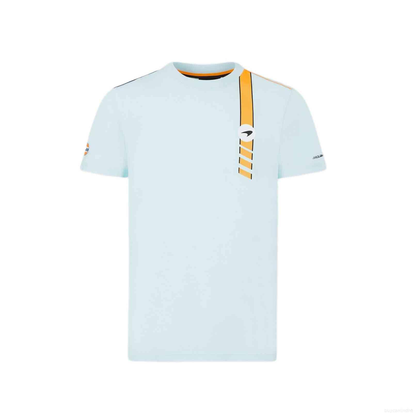 2021 F1 MclarenTeam Jersey T shirt Formula One Racing Suit Summer Fashion Tshirts Harajuku Men's and Women's Short Sleeve Sports Tees T-shirt