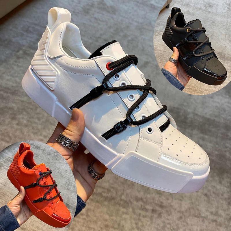 2021 Luxury Mens Desi PORTOFINO SNEAKERS Luxu Design shoes men IN CALFSKIN AND PATENT LEATHER
