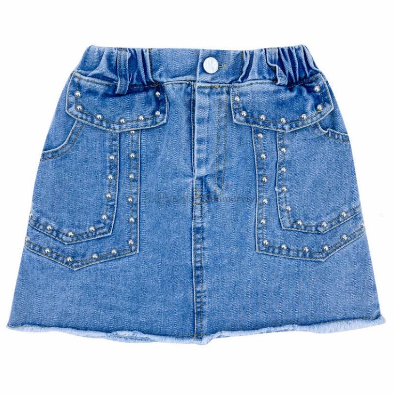 Trendy Old Girls denim skirt Fashion summer children rivet tassel cowboy skirts big kids clothing A6689