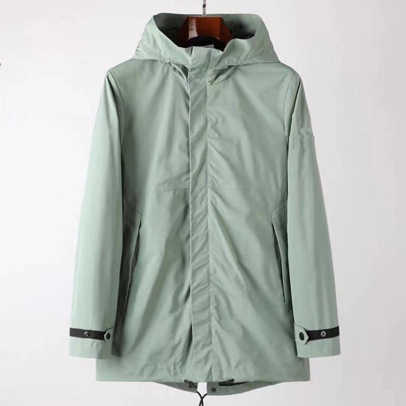 CPtopstoney 2021 New medium and long Hoodie men's long sleeve windbreaker zipper Hoodie Jacket fashion outdoor long jacket