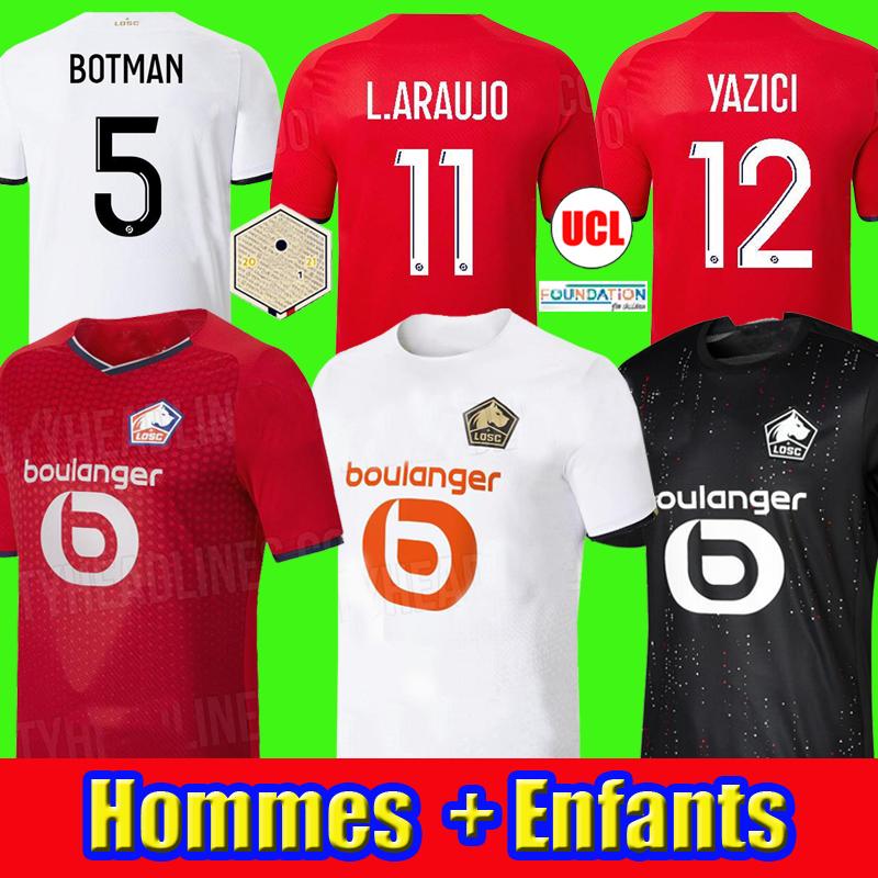 2021 2022 LOSC Lille soccer jersey DAVID FONTE BURAK BAMBA YAZICI football shirts 21 22 Olympique JIKONE R.SANCHES T.WEAH L.ARAUJO maillots Adult Kids Kit