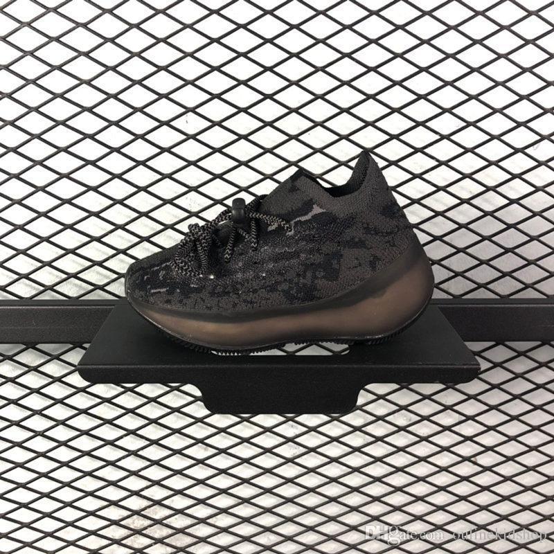 Infant 380 V3 Kanye West Alien Designer Running Trainers Boys Girl Bold Black and Stark White Citrin Mist outdoor Sports Sneakers With Box