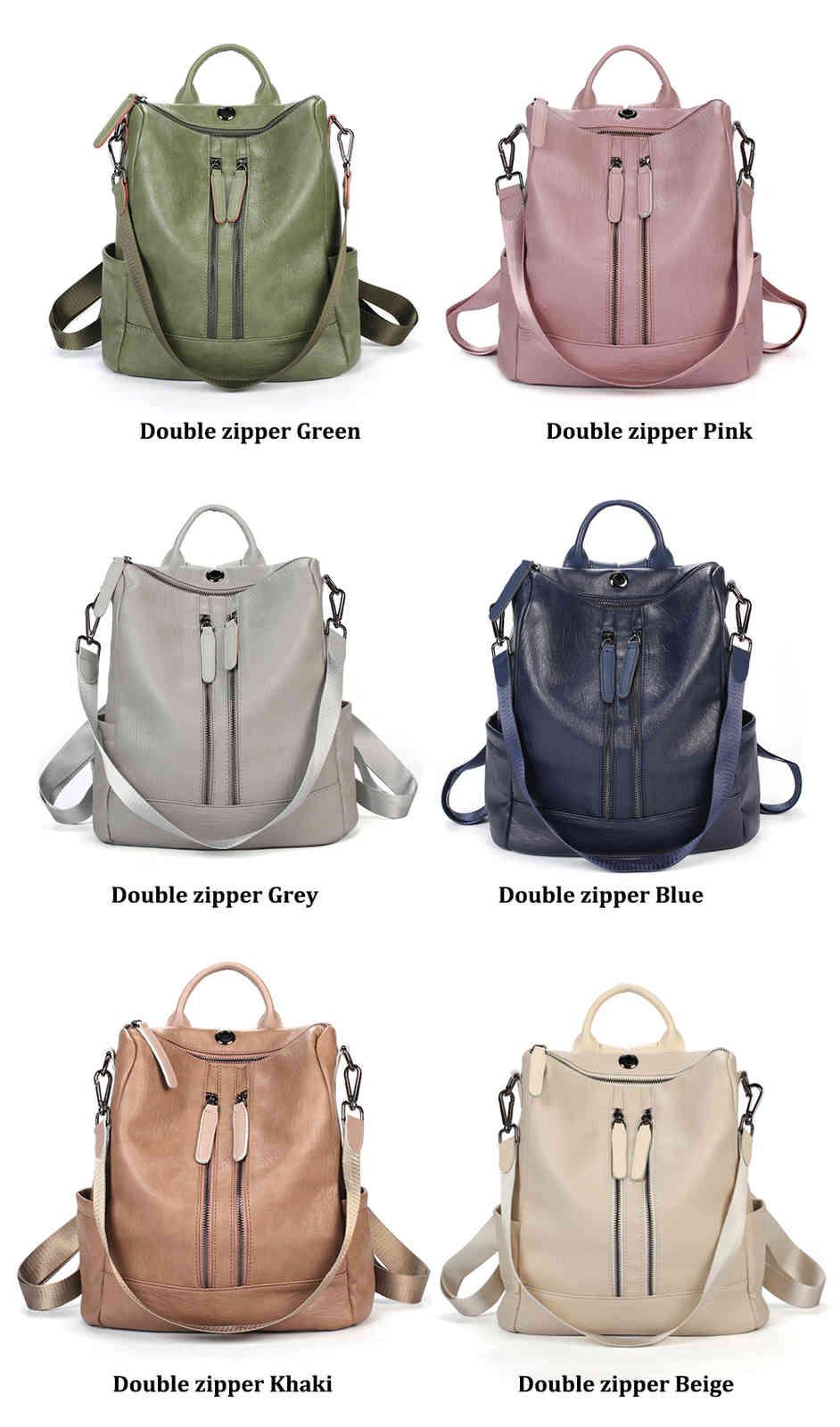 double zipper backpack