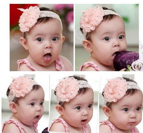 UK Seller Newborn Baby Girls Pretty Headbands Rose Sequins Bow Girls