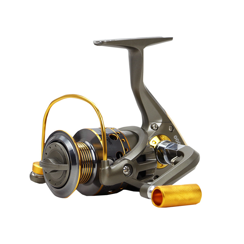 Grey Spinning Fishing Reel with High Speed 5.5:1 Gear Ratio 10 Ball Bearings