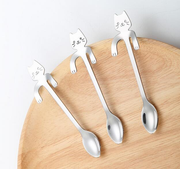 Mignon sirène Cuillère Poignée cuillères couverts café potable Outils Gadget De Cuisine
