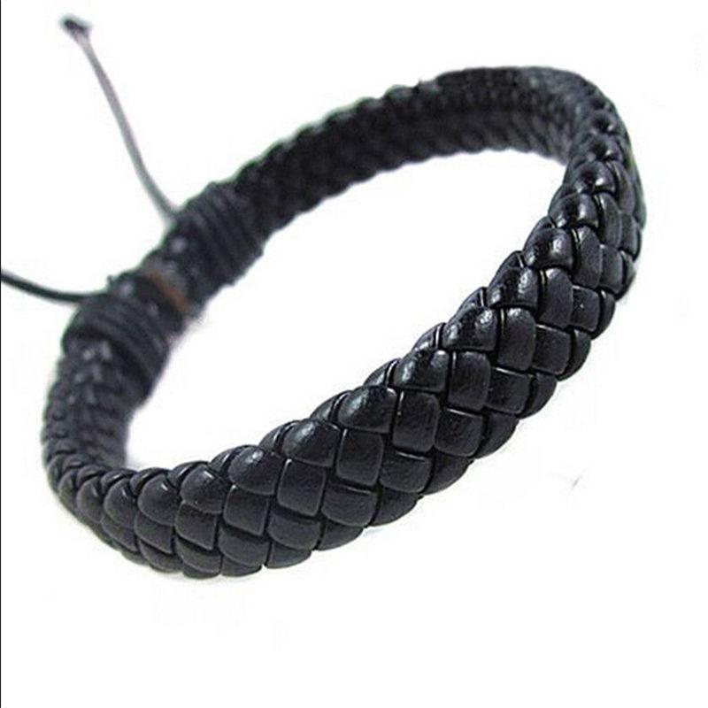 New Fashion Unisex Tribal Femmes//Hommes Surfeur multicouche en cuir Wrap Cuff braceltl