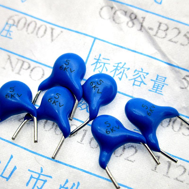 5 pezzi Condensatore 22pF 2000V 2KV 5/% in Ceramica alta tensione