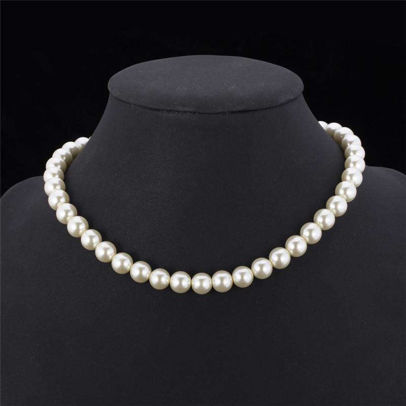 """Élégant 8 mm blanc Akoya mer Shell collier de perles 36/"""" AAA"""