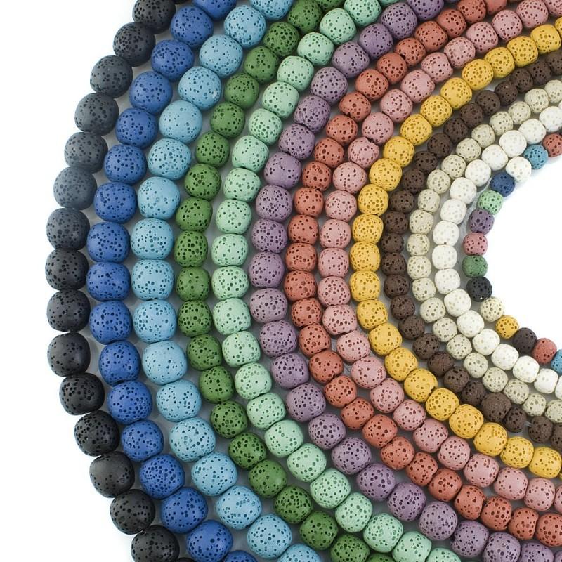 pourpre lâche,38cm 8 mm Perles pierres précieuses agate veines