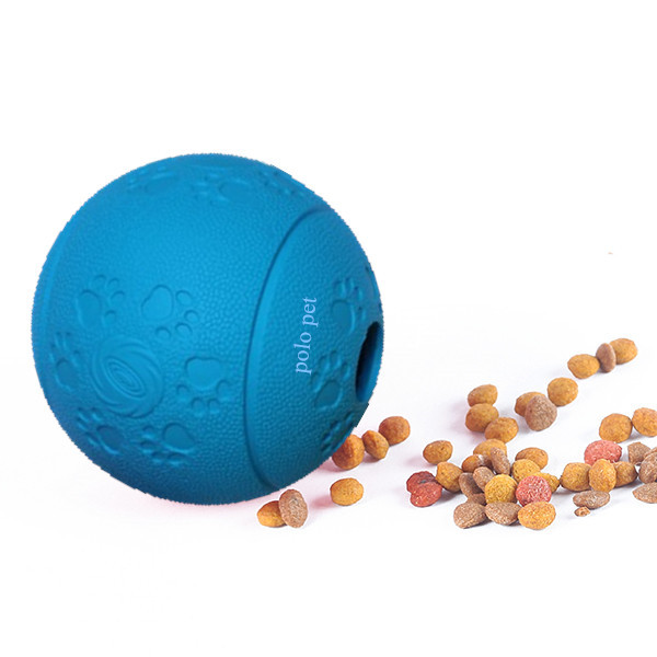 rubber dog cat snack ball