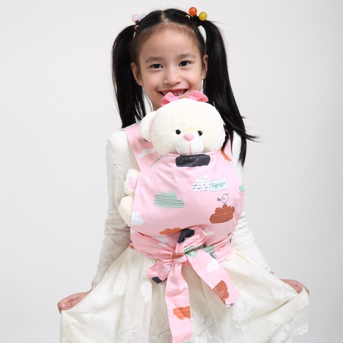 1 Baby Doll Carrier Mei Tai Sling Toddler Birthday Christmas Gift Fox For Girls