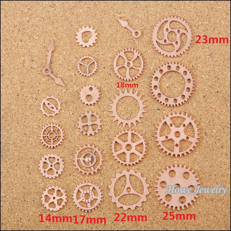 100 grammi di Steampunk ingranaggi//gears in Bronzo in Lega di Metallo da 40mm a 8mm
