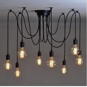 Industrial Vintage Kronleuchter Spinne Deckenlampe Pendelleuchte 4//6//8 Köpfe