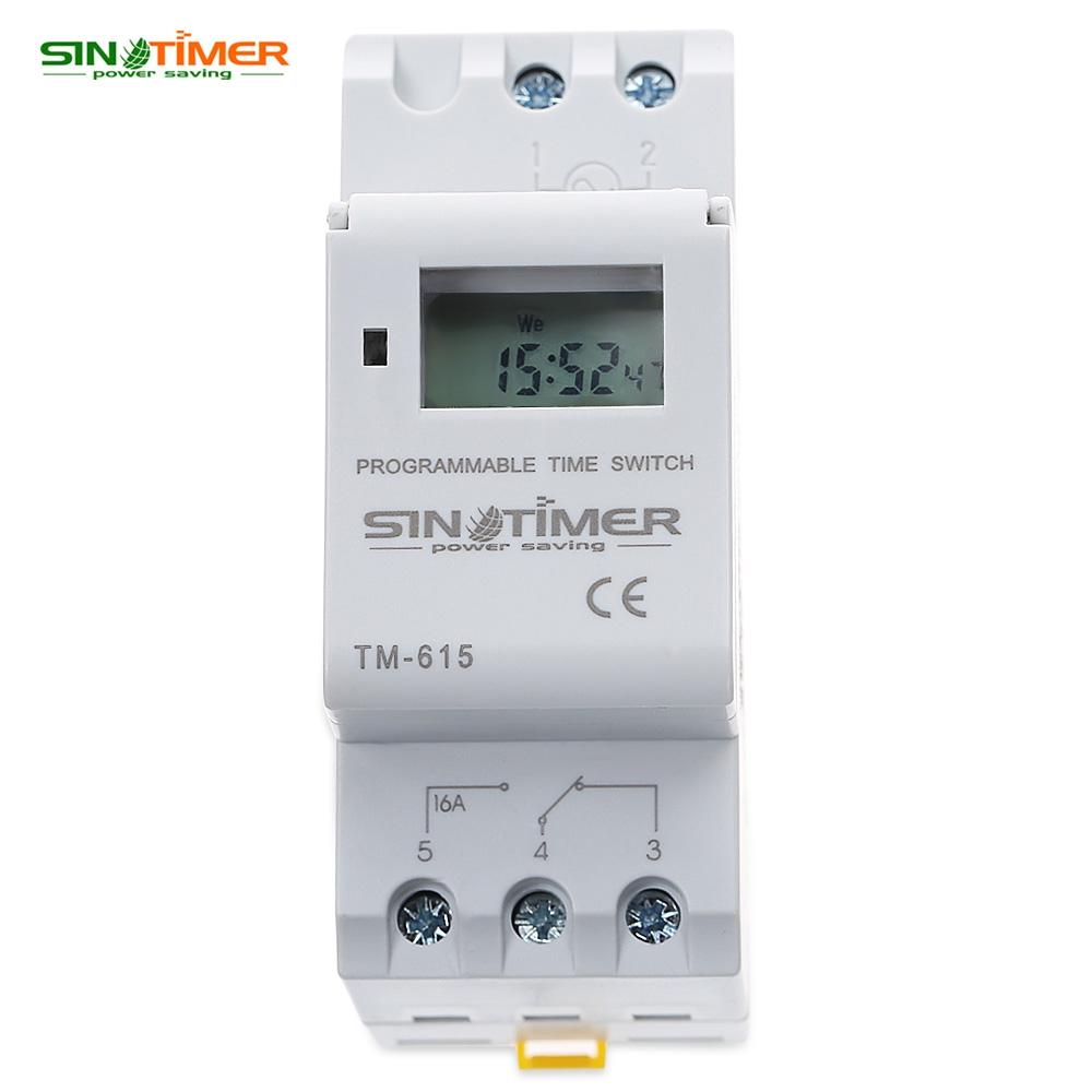 MagiDeal Programmateur Interrupteur Relais Din Rail Minuteurs Num/érique LCD Hebdomadaire Blanc 220 v