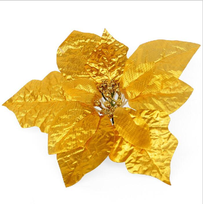 Gold Poinsettia Ornaments Online Shopping Buy Gold Poinsettia Ornaments At Dhgate Com