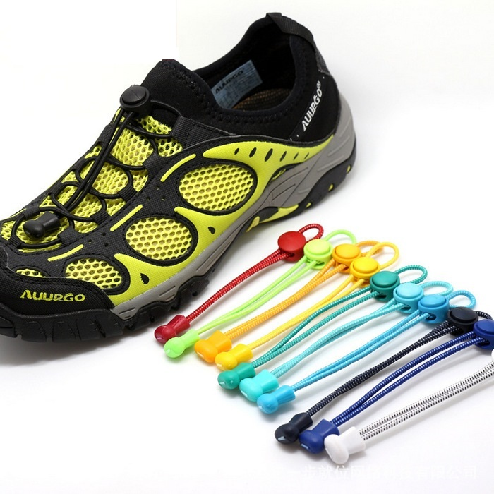 4 Pair Sports Laces Lock Shoelaces Triathlon Cord Drawstring Trainer Running