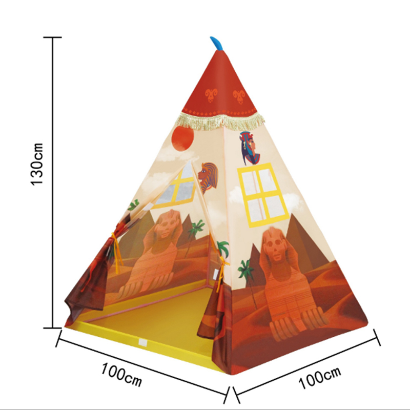 Portable Indian Pattern Toys Tent Play Teepees Safety Tipi Playhouse Activity House Kids Funny Indoor Game Outdoor Beach Tents (9)