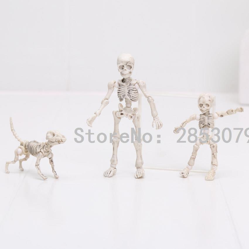 Compre 3 8 Cm Anime Pose Esqueleto Humano Niño Perro Esqueleto ...