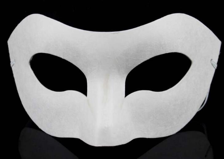 Maschera Bianco veneziane PHANTOM MASCHERA ANONYMOUS neutro maschera Cosplay Carnevale